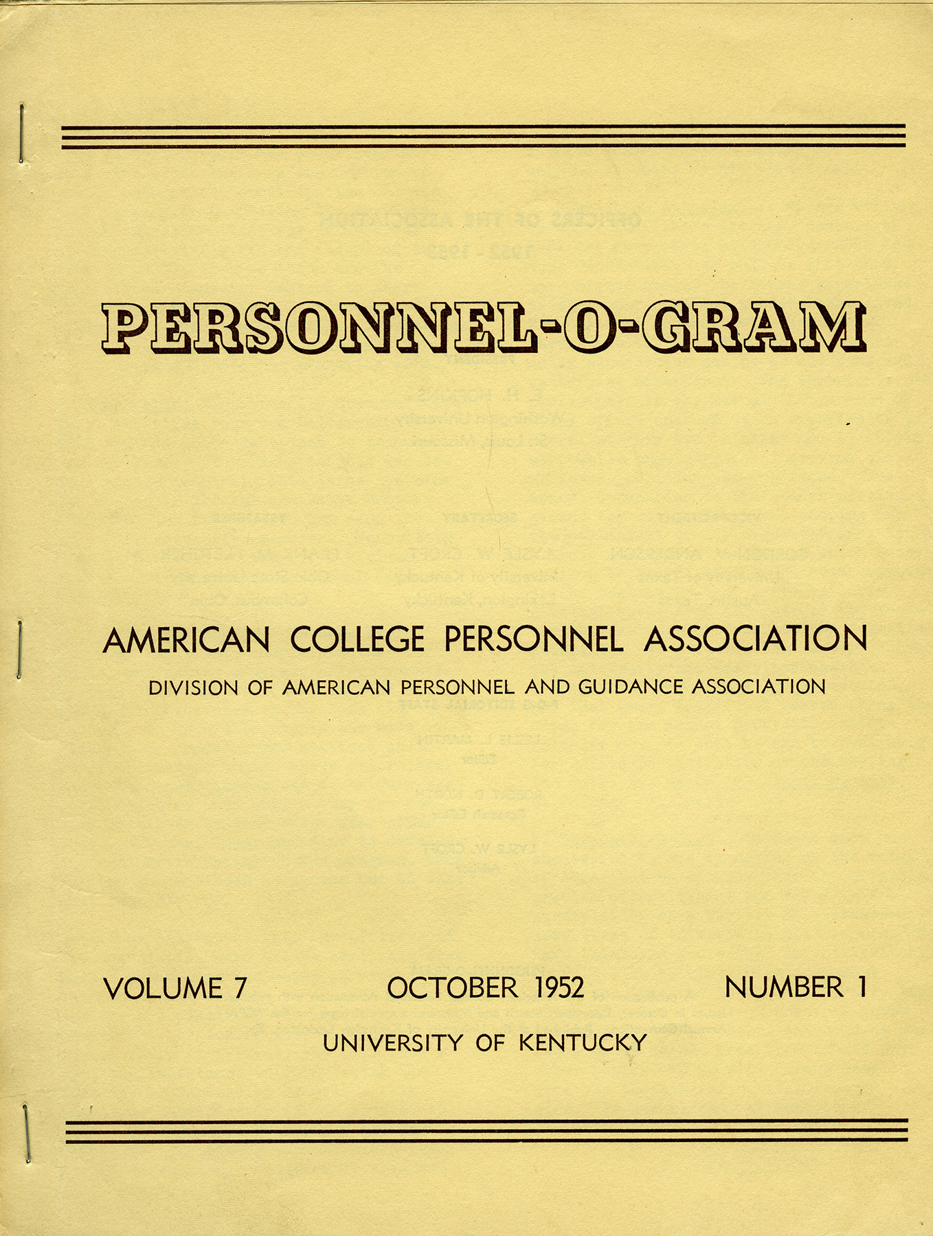 The Evolving Image of the Personnel-O-Gram