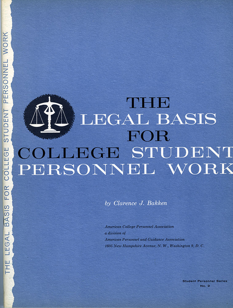 The Legal Basis for College Student Personnel Work