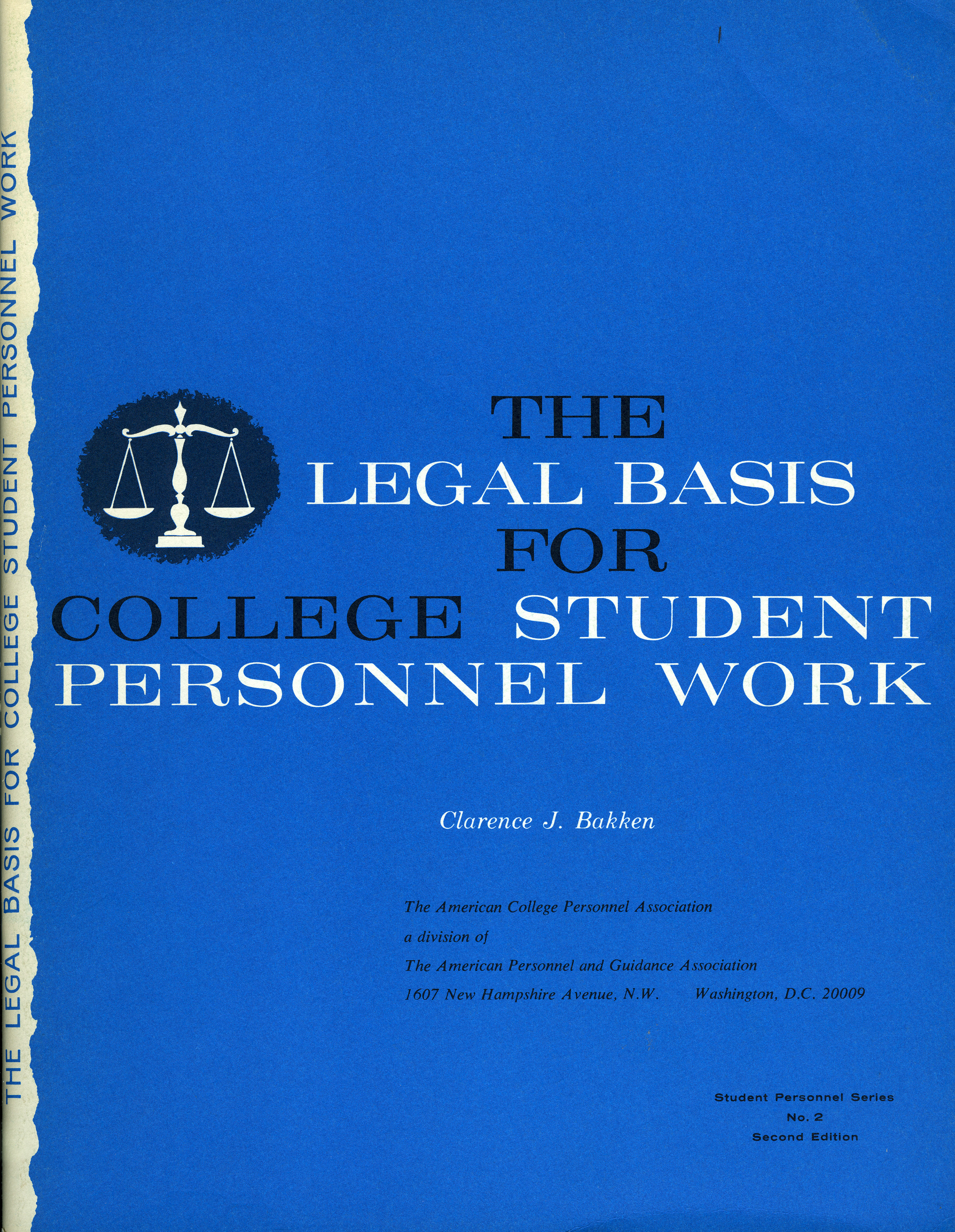 Legal Basis for College Student Personnel Work