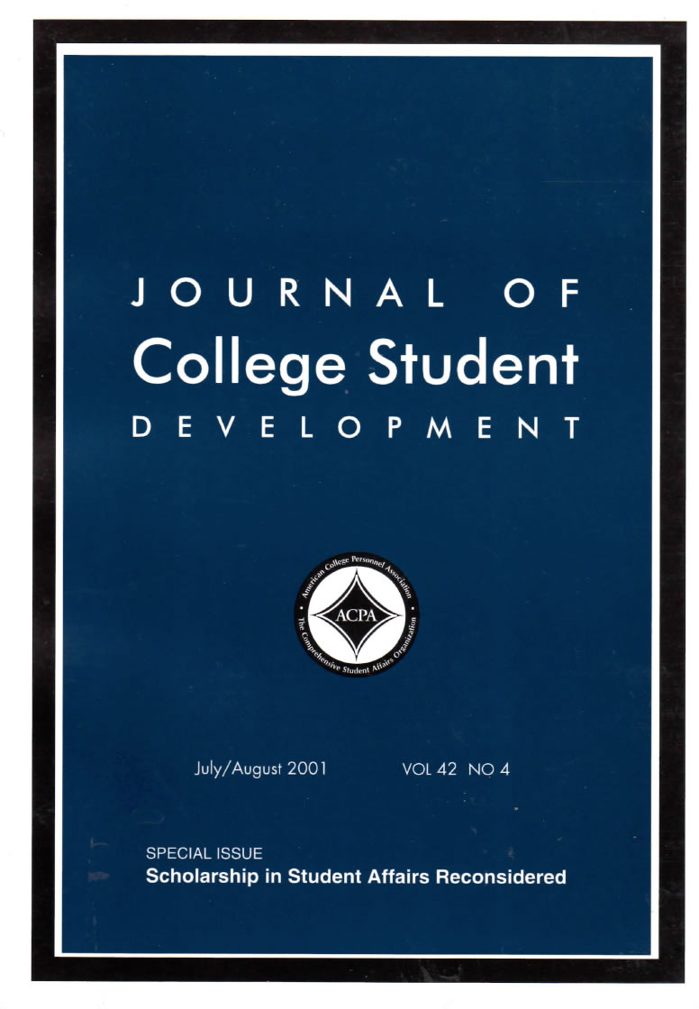 JCSD: Special Issue on Scholarship in Student Affairs