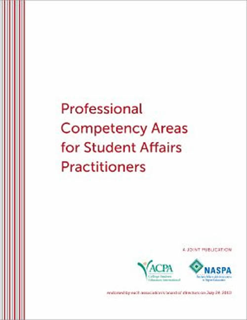 Professional Competency Areas for Student Affairs Practitioners